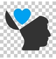 Open Mind Love Heart Icon vector image vector image