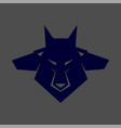 pack of wolf heads vector image