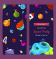 party invitation with space elements vector image vector image