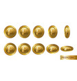 peercoi set of realistic 3d gold crypto coins vector image vector image