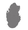 qatar map vector image vector image