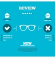 Retro glasses sign icon Eyeglass frame symbol vector image vector image