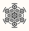 sacred geometry 0071 vector image vector image