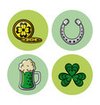 saint patricks days elements vector image