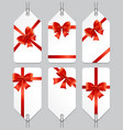 sale or present bow labels set vector image vector image