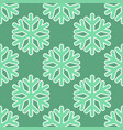 seamless art pattern with snowflakes on blue green vector image vector image