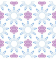 Seamless of ornament like violet lilacs and blue n vector image vector image