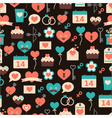 seamless pattern for Valentine day on dark backg vector image vector image