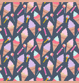 seamless pattern with ice creams elements vector image