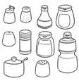 set of condiment bottles vector image