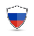 shield with flag of russian isolated vector image vector image
