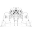 sport race car abstract drawing tracing vector image vector image