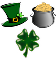 St Patrick's day items vector image vector image