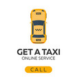 taxi service online taxi car flat vector image vector image