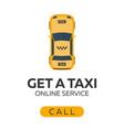 taxi service online taxi car flat vector image