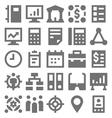 Teamwork Organization Icons 3 vector image vector image