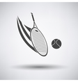 Tennis racket hitting a ball icon vector image