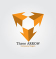 three arrow vector image vector image