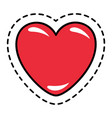 valentine holiday heart symbol in path vector image