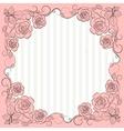 Vintage paper frame with floral pattern vector image