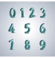 Volumetric numerals vector image