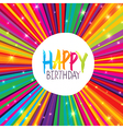 a Happy Birthday Greeting Card with color vector image