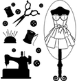 Fashion mannequin silhouettes vector image