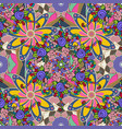 seamless floral pattern in flowers on pink blue vector image