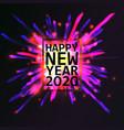 2020 happy new year vector image vector image