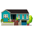 A blue house vector image vector image