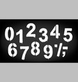 a set of numbers made by the stencil and drips of vector image