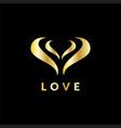 abstrack love valentine logo vector image