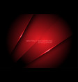 abstract red metallic overlap design modern vector image vector image
