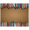Abstract straight lines and brown paper background vector image vector image