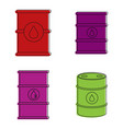 barrel icon set color outline style vector image vector image