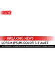 breaking news template pop art vector image