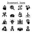 business investment icon set vector image vector image