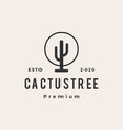 cactus tree hipster vintage logo icon vector image vector image