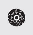 car brake discs icon symbol vector image vector image