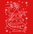 christmas theme and background vector image vector image