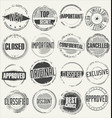 collection grunge rubber stamps vector image vector image