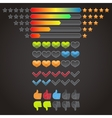 Colorful rating icons set vector image