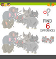 differences game with elephants vector image vector image