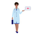 doctor with briefcase and stethoscope vector image