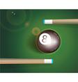 eight ball billiard background vector image