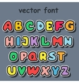 english alphabet in cartoon style vector image vector image