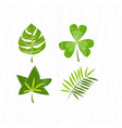 eps 10 hand drawn green leaf pattern vector image