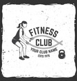 fitness club vector image