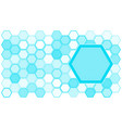 geometrical trendy artistic shapes hexagons vector image