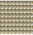 Golden chevron seamless pattern Horizontal lines vector image vector image
